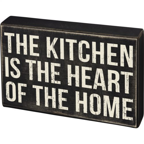 Kitchen Is The Heart Of Home Box Sign Roux Royaleroux Royale